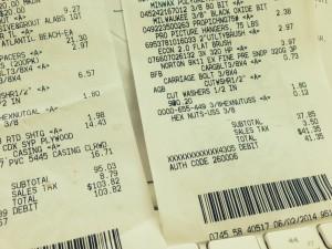 home depot receipts photo